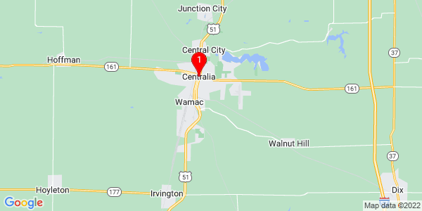 Google Map of Centralia, IL