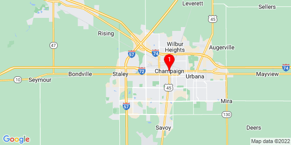 Google Map of Champaign, IL