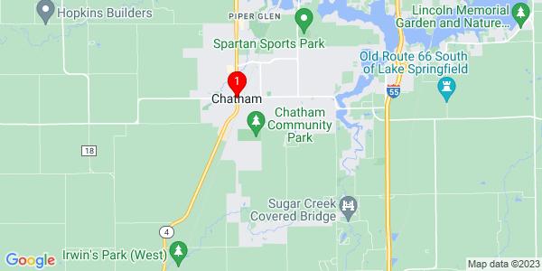 Google Map of Chatham, IL