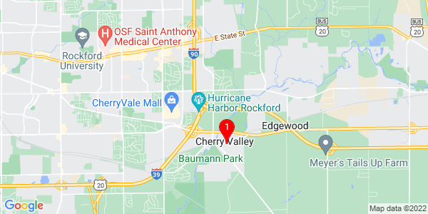 Google Map of Cherry Valley, IL