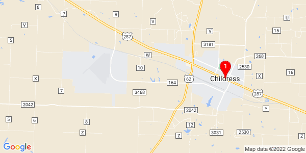 Google Map of Childress, TX