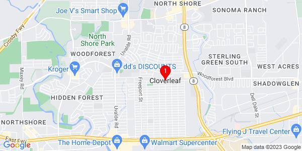 Google Map of Cloverleaf, TX