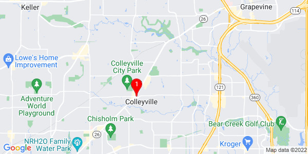 Google Map of Colleyville, TX