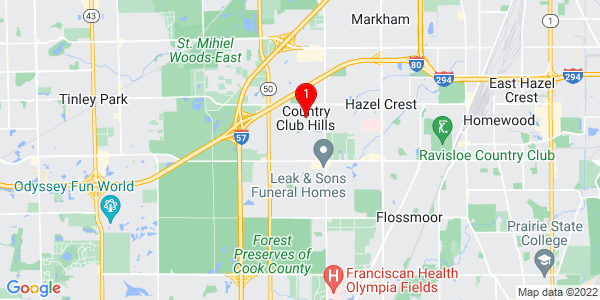 Google Map of Country Club Hills, IL