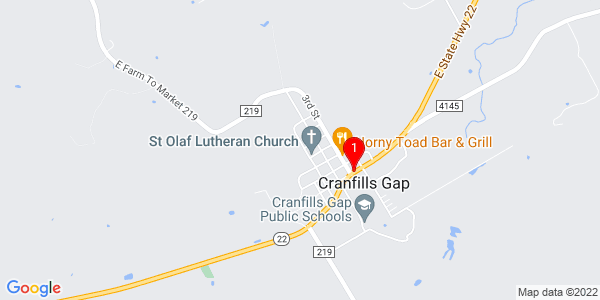 Google Map of Cranfills Gap, TX