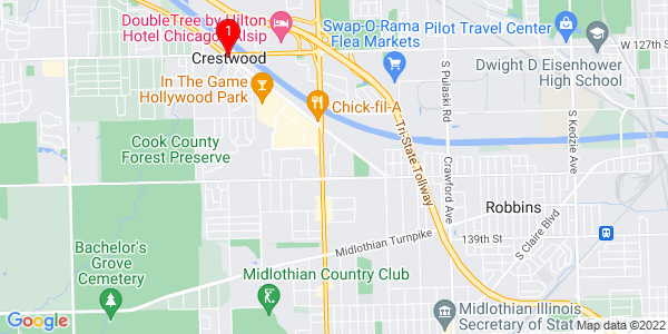 Google Map of Crestwood, IL