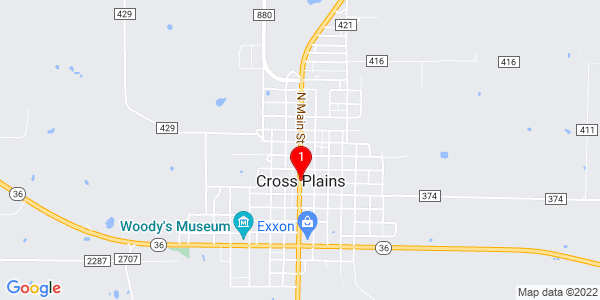 Google Map of Cross Plains, TX