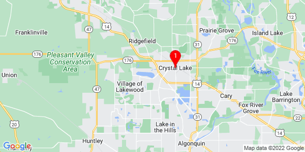 Google Map of Crystal Lake, IL