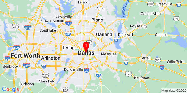 Google Map of Dallas, TX