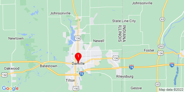 Google Map of Danville, IL
