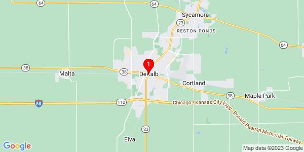 Google Map of DeKalb, IL