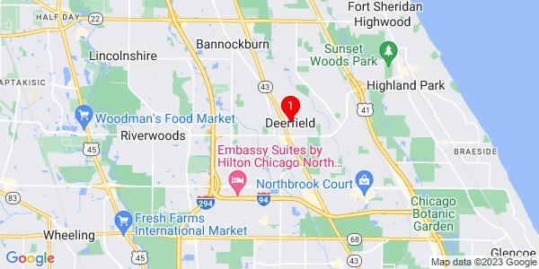 Google Map of Deerfield, IL
