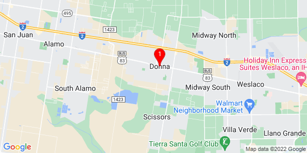 Google Map of Donna, TX