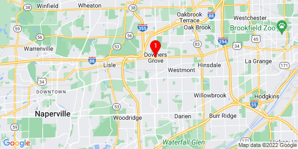 Google Map of Downers Grove, IL