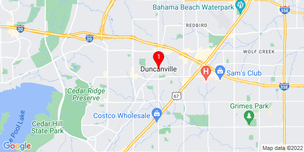 Google Map of Duncanville, TX