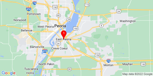 Google Map of East Peoria, IL
