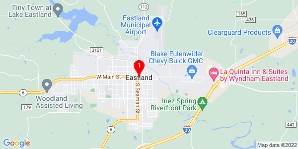 Google Map of Eastland, TX