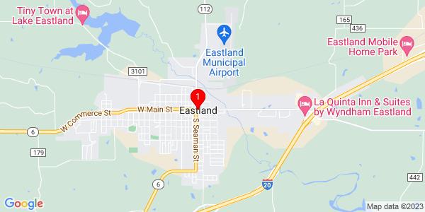 Google Map of Eastland, TX