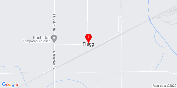 Google Map of Flagg, IL