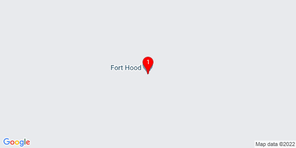 Google Map of Fort Hood, TX