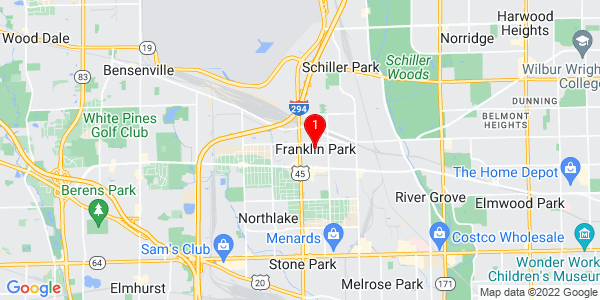 Google Map of Franklin Park, IL