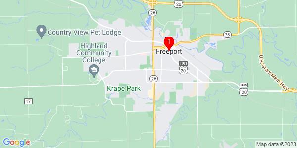 Google Map of Freeport, IL