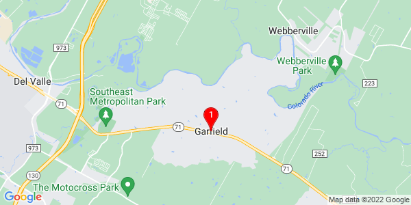 Google Map of Garfield, TX