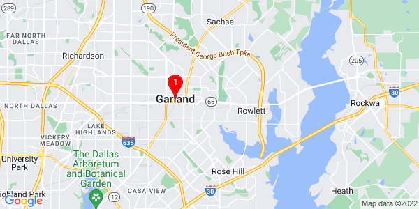 Google Map of Garland, TX