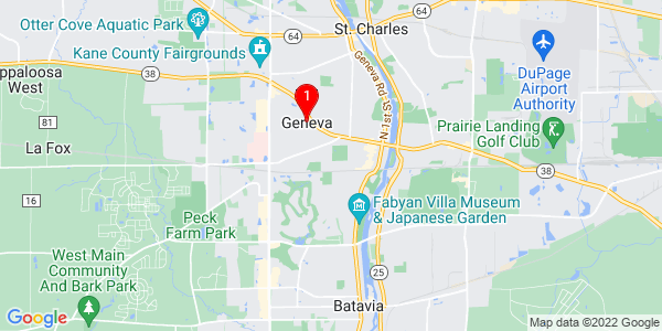 Google Map of Geneva, IL