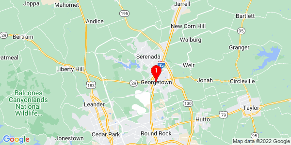 Google Map of Georgetown, TX