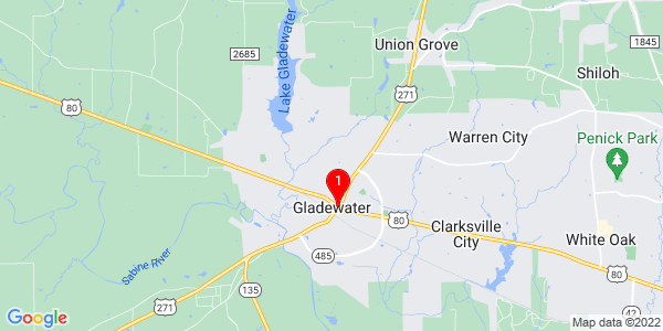 Google Map of Gladewater, TX
