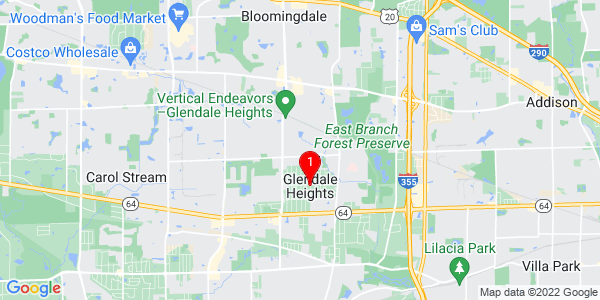 Google Map of Glendale Heights, IL