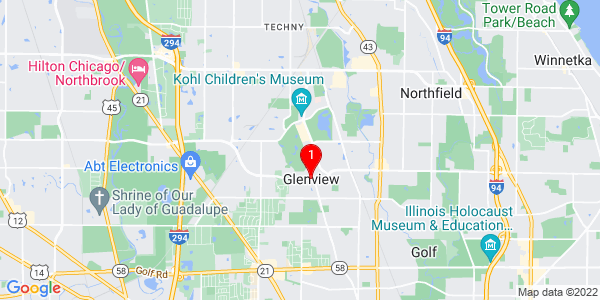 Google Map of Glenview, IL