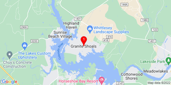 Google Map of Granite Shoals, TX