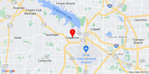 Google Map of Grapevine, TX