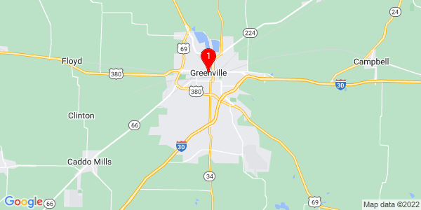 Google Map of Greenville, TX