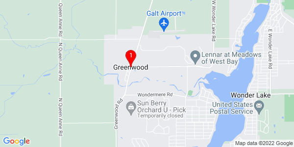 Google Map of Greenwood, IL