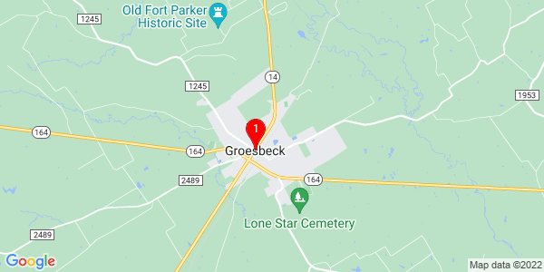 Google Map of Groesbeck, TX