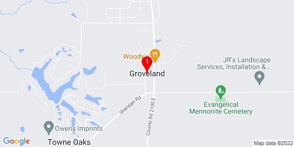 Google Map of Groveland, IL