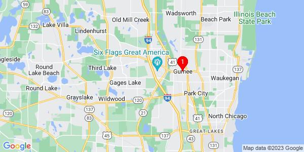 Google Map of Gurnee, IL
