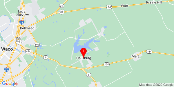 Google Map of Hallsburg, TX
