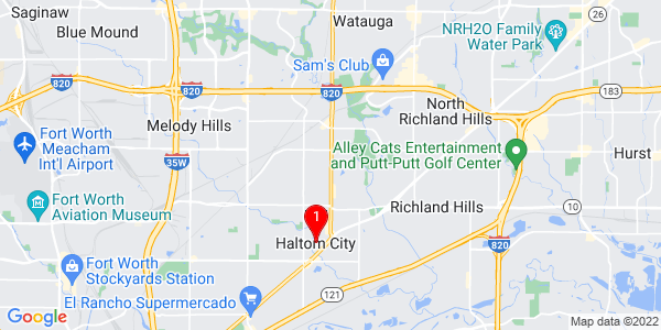 Google Map of Haltom City, TX