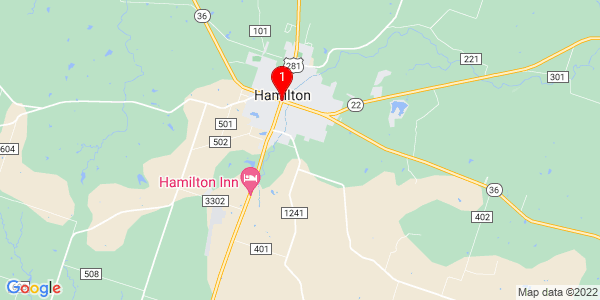 Google Map of Hamilton, TX
