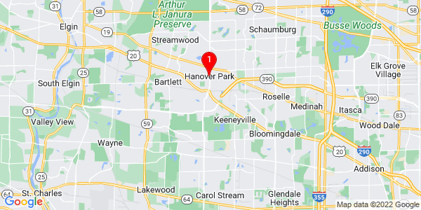 Google Map of Hanover Park, IL