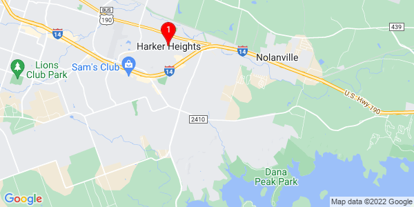 Google Map of Harker Heights, TX