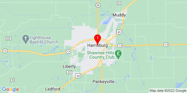 Google Map of Harrisburg, IL