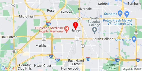 Google Map of Harvey, IL