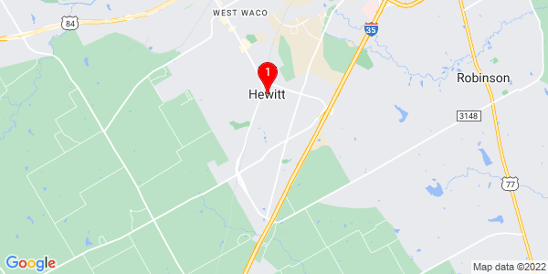 Google Map of Hewitt, TX
