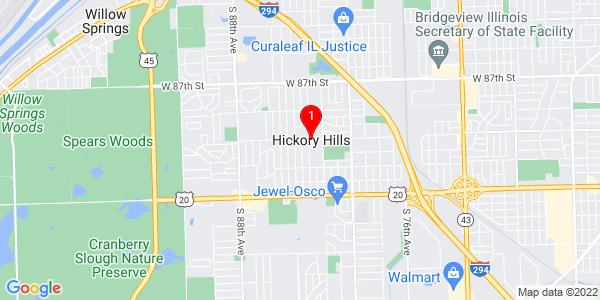 Google Map of Hickory Hills, IL