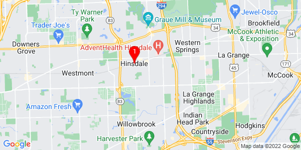 Google Map of Hinsdale, IL